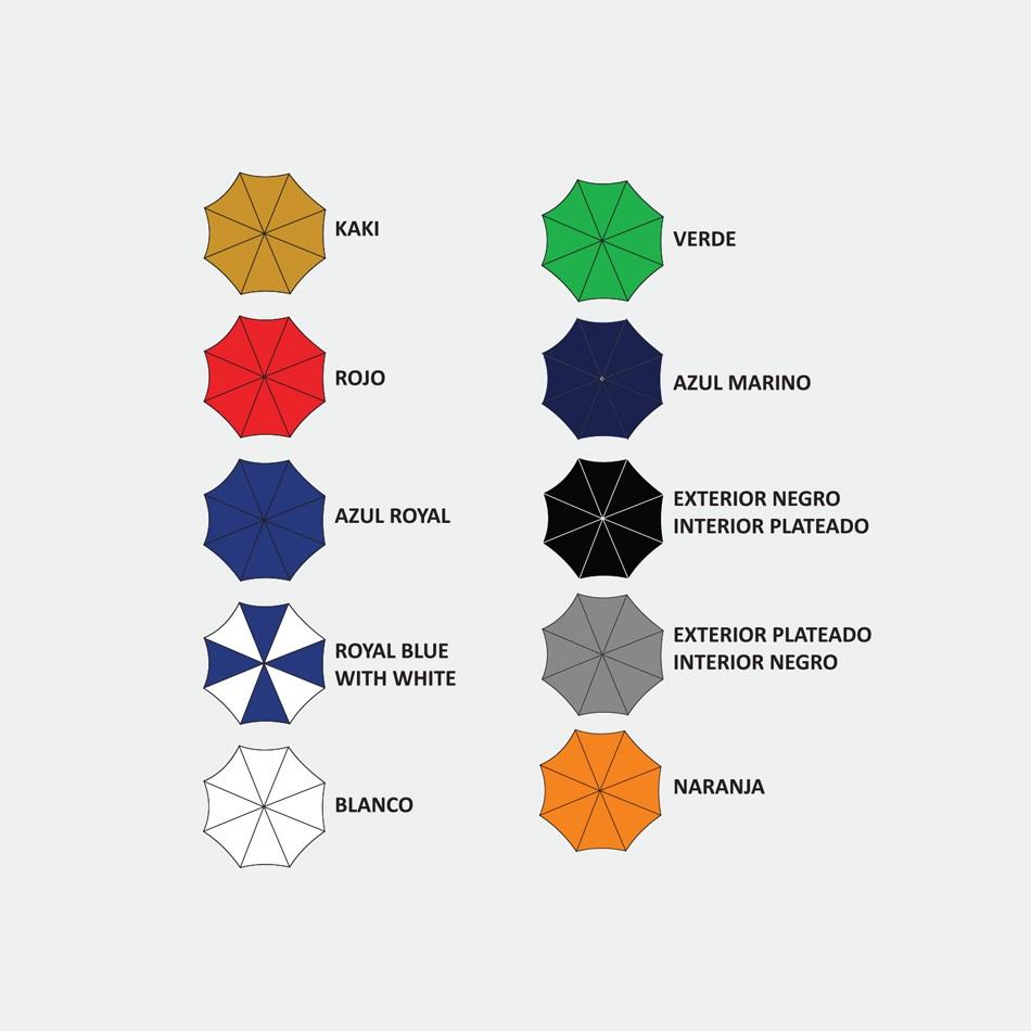 Colores Disponibles - Paraguas de Mano